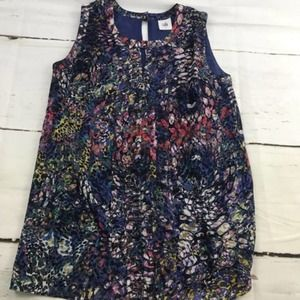 Cabi abstract colorful sleeveless tank top blouse